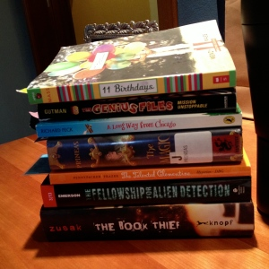 A subset of my summer TBR pile